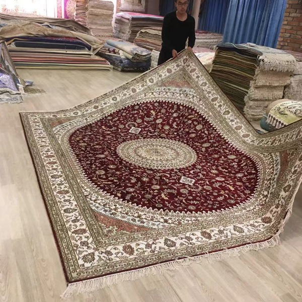 8x10ft handmade silk carpet