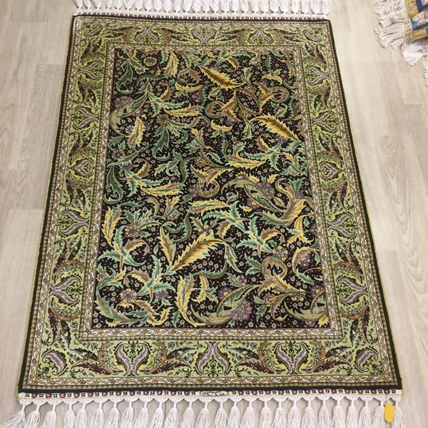 2.7x4ft handmade silk carpet