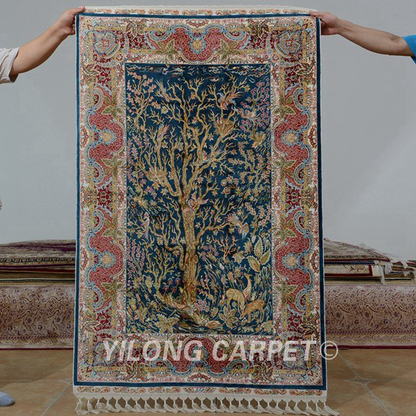 tree of life carpet, silk carpet, handmade rug