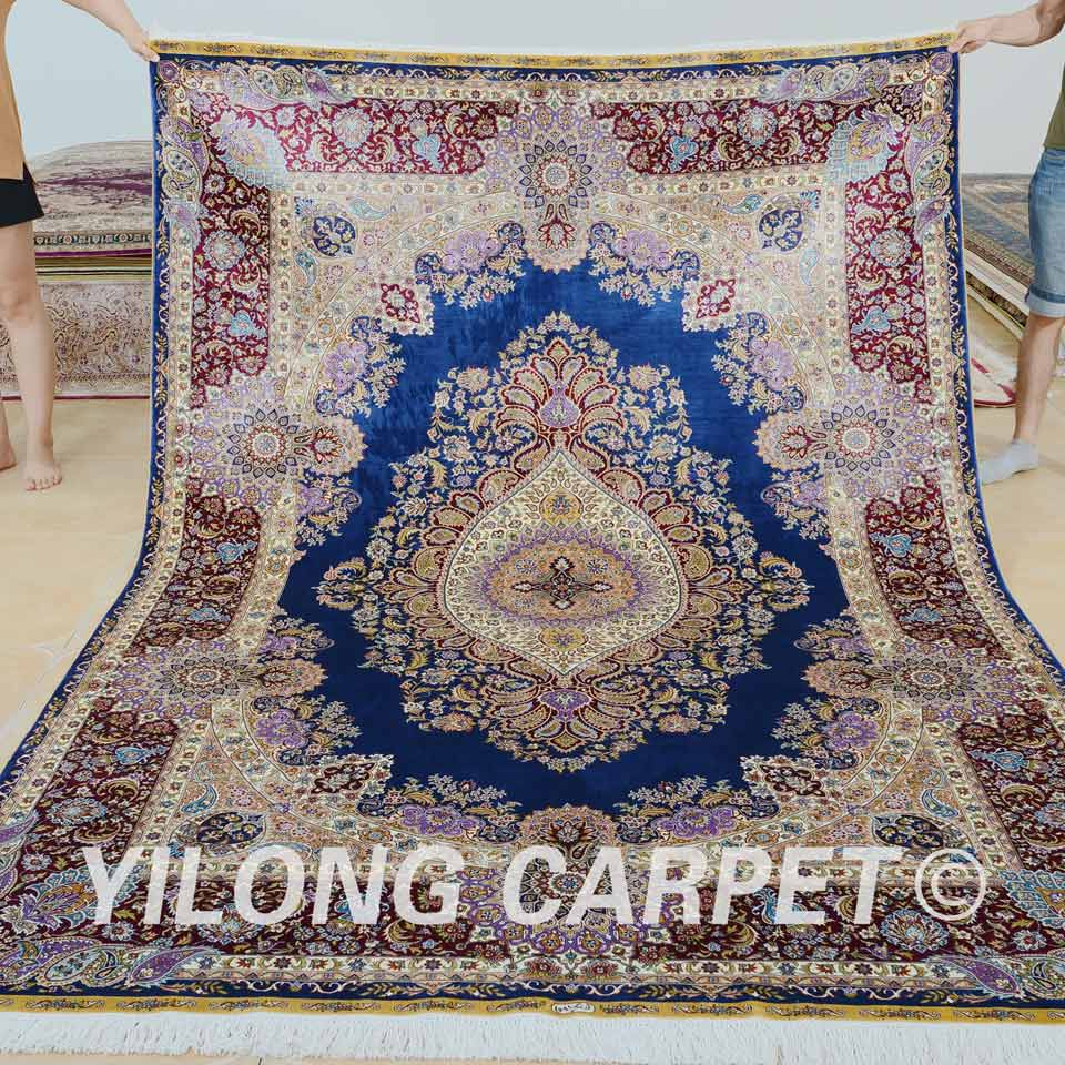 Yilong Carpet Factory Can Supply Very Fine Quality Hand Knotted Silk Rug