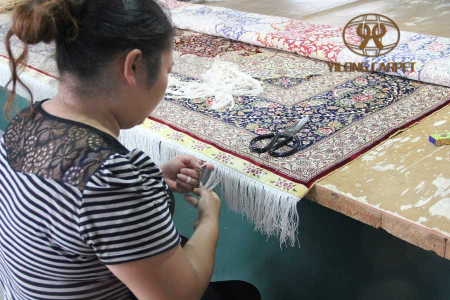handmade customized silk carpet