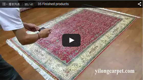 Finished products silk rugs