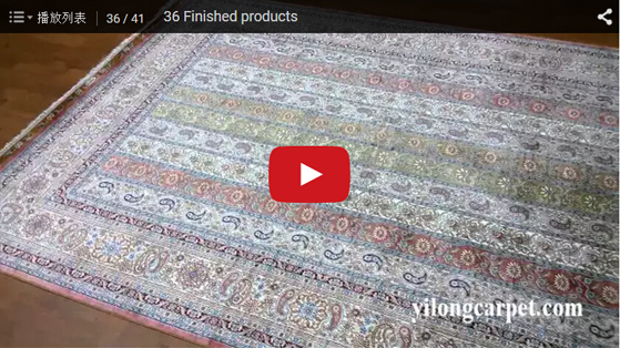 Finished products silk area rugs