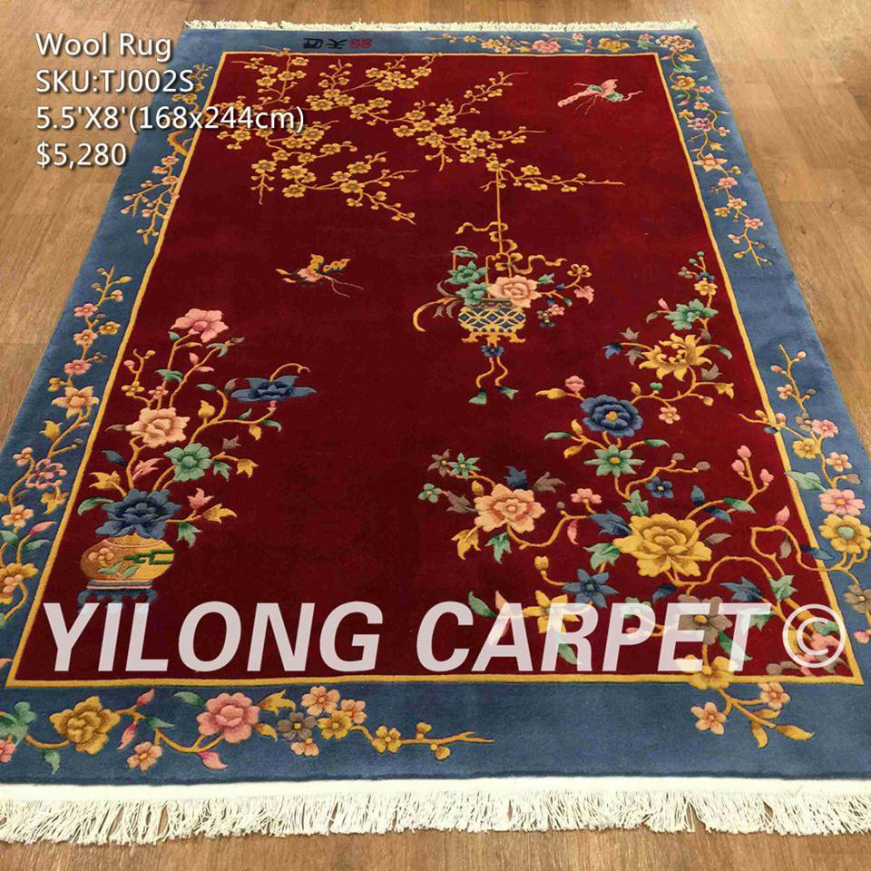 Chinese Art Decor Wool Rug Tj002s Material Size 5 5ft X 8ft 1 68m 2 44m Price Us 280 00 Quany In Stock 1pcs